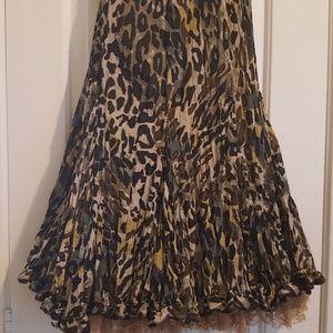 Alberto Makali leopard print swing style skirt